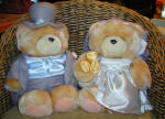 Teddy bears and cuddly toys as gifts in Cyprus - this is our bride and groom teddy pair - cute or what?